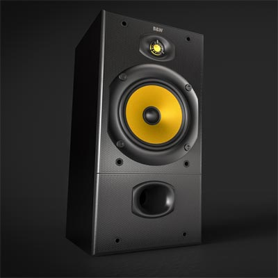 BW DM 602 Bookshelf Speakers USED
